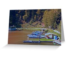 Boats in the harbour II | waterscape photography Greeting Card