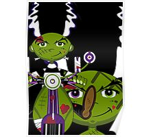 Bride of Frankenstein on Scooter Poster