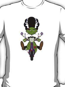 Bride of Frankenstein on Scooter T-Shirt