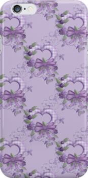 Lilac Hearts .. iphone case by LoneAngel
