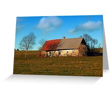 Old abandoned farmhouse | architectural photography Greeting Card