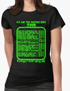 GT and the Suction Cups Tour Womens Fitted T-Shirt