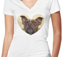 Red Nose Pit Women's Fitted V-Neck T-Shirt