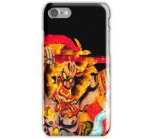 Warrior fights demon iPhone Case/Skin
