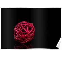 Red decoration ball Poster