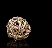 Natural decoration ball by Tom Klausz