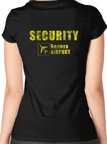 Balota Airport Security Women's Fitted Scoop T-Shirt