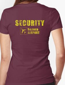 Balota Airport Security Womens Fitted T-Shirt