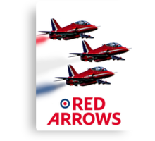 The Red Arrows reach 50 Canvas Print