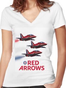 The Red Arrows reach 50 Women's Fitted V-Neck T-Shirt