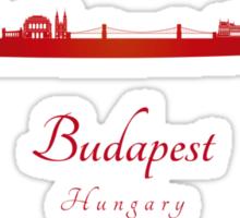 Budapest skyline in red Sticker