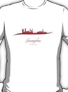 Guangzhou skyline in red T-Shirt