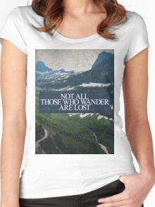 Not All Those Who Wander Women's Fitted Scoop T-Shirt