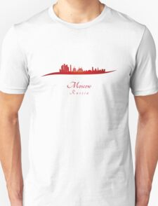 Moscow skyline in red T-Shirt