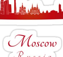 Moscow skyline in red Sticker