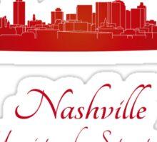 Nashville skyline in red Sticker