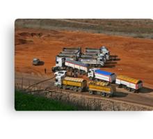 Trucks at Hyria Canvas Print