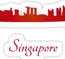 Singapore skyline in red Sticker
