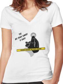 Ass Crack Bandit Women's Fitted V-Neck T-Shirt