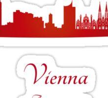 Vienna skyline in red Sticker
