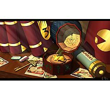 Gravity Falls Night Table Photographic Print