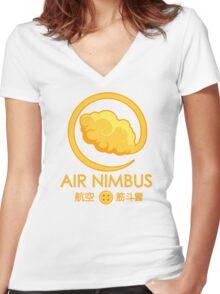 Air Nimbus (alt.) Women's Fitted V-Neck T-Shirt