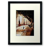 london lights Framed Print