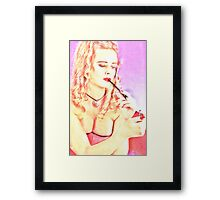 Pretty woman Framed Print