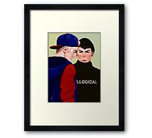 Kirk and Spock in High School Framed Print