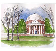 The Rotunda At UVA Poster