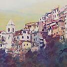 Riomaggiore Hillside by JennyArmitage