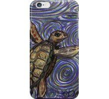 Loggerhead Turtle and Swirls iPhone Case/Skin