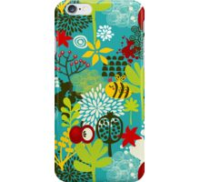 Bee and apple. iPhone Case/Skin