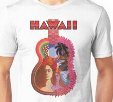 Hawaii vintage TWA poster guitar art Unisex T-Shirt