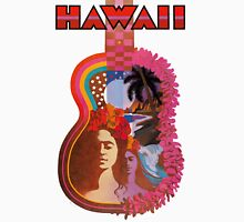 Hawaii vintage TWA poster guitar art Unisex T-Shirt