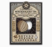 Wormholers Time Travel Specialists Kids Tee
