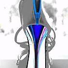 high heel blue by Sandy Maya Matzen