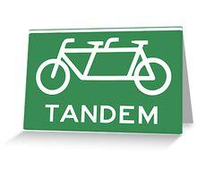 Tandem Bicycle Sign Greeting Card