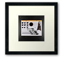Electrigram-Black  Framed Print