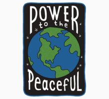 Power To The Peaceful One Piece - Long Sleeve