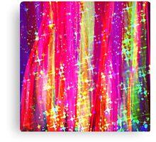 WATERFALLS Abstract Acrylic Pink Purple Ocean Waves Stars Fine Art Painting Canvas Print