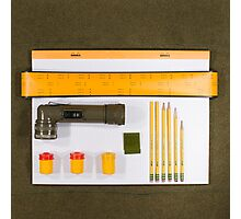 Electrigram-Yellow & Green Photographic Print