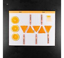 Electrigram-Orange Photographic Print