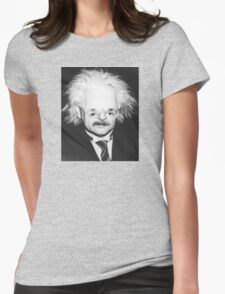 Einstein Sloth Face Womens Fitted T-Shirt