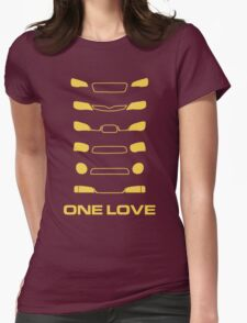 Subaru Impreza - One love Womens Fitted T-Shirt