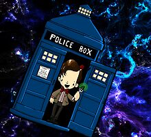 TARDIS in SPACE doctor who 11 by Bantambb