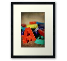 Alphabet Fun Framed Print