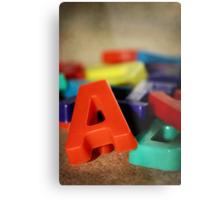 Alphabet Fun Metal Print