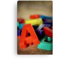 Alphabet Fun Canvas Print