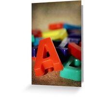 Alphabet Fun Greeting Card
